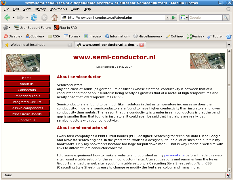 semi-conductor about page