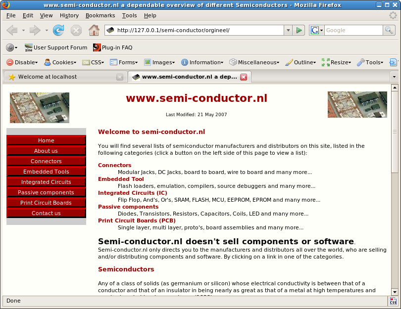 semi-conductor index page